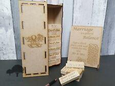 Personalised Wedding Guestbook game, 54, 78, 108 or 153 blocks in a bespoke box.
