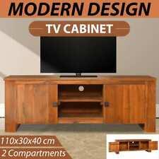 vidaXL Solid Teak Wood TV Cabinet Wooden Entertainment Centre Stand Sideboard