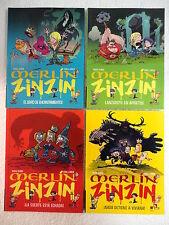Merlin Zinzin,col.completa 4 libros,Marc Cantin/Stan & Vince,Edebe 2011