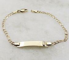 14K Yellow Gold Baby Link Id Bracelet
