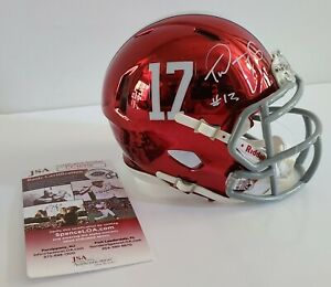 Tua Tagovailoa Signed Auto Alabama Crimson Tide Chrome Mini Helmet JSA COA