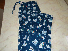 MENS FROZEN LOUNGE PANTS MEDIUM COTTON SNOWMAN HUGS