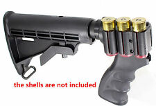 Remington 870 12 Gauge Pistol Grip Shell Holder 6 Position Tactical Stock