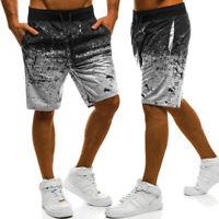 Mens Sport Summer Fitness Jogger Shorts Drawstring Beach Sweat Casual Half Pants