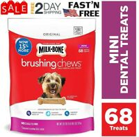 Milk-Bone Brushing Chews Daily Dental Dog Treats | Dental Chews Mini 68 Treats