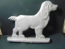 vintage CAST METAL SPANIEL DOG fence mailbox FENIAL TOPPER gate DECORATION $9.95