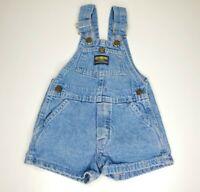 Vintage Oshkosh Baby B'Gosh Vestbak Bubble Bib Overall 2T? Blue Denim Distressed