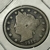 1912-S LIBERTY NICKEL RARE DATE COIN