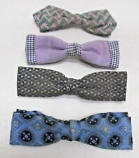 Vintage Mens Bow Tie Lot of 4 Ruebro NYC Beau Clip Grip Tite Clasp Company USA