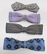 Vintage Mens Bow Tie Lot of 4 Ruebro NYC Beau Clip Grip Tite Clasp Company USA