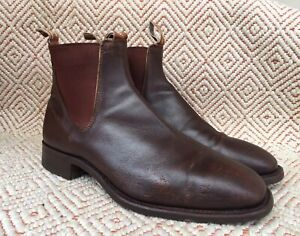 RM Williams Brown Square Toe Boots