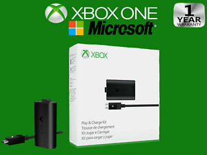 New OFFICIAL Microsoft XBOX ONE Play and Charge Kit (Original OEM ) + Cable
