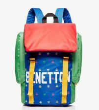 NEW Benetton multi-coloured backpack Rucksack Rrp£39.99