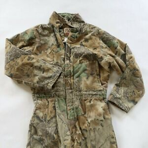 Walls Blizzard Pruf Insulated Coveralls Camo Hunting - Size Youth 18 (Large)