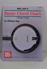 Mel Bay's Banjo Chord Chart 5-String, G Tuning by William Bay