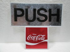 "ORIGINAL  enjoy Coca~Cola   - ""PUSH""   DOOR STICKER/DECAL"