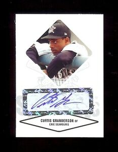 CURTIS GRANDERSON Dodgers - Certified Baseball Rookie Card AUTOGRAPH RC xx/825