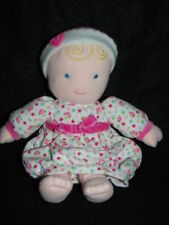 CARTER'S Pink Floral Gown Blonde Doll Plush Lovey 49205