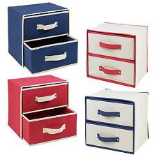 pliable tissu à 2 tiroirs boîtes de rangement conteneurs bibelots Organisateur