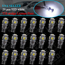 20X HID White Clear Wedge T10 5050 5-SMD LED Car Dome Map Light W5W 194 192 168