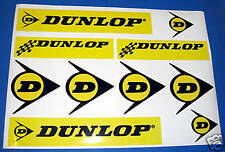 Dunlop retro rally race car motor bike sticker decals