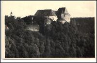 Schloß Burgk Thüringen DDR Postkarte 1954 Blick auf das Schloß Wald ungelaufen