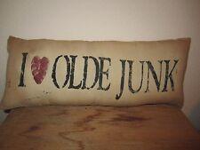 Primitive Stenciled Pillow - I love olde junk