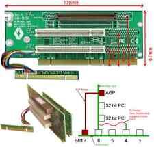 1x AGP & 2x 32Bit PCI 2U Carte De Montage. Extender. GH-500