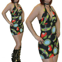 SNOW WHITE THEMED PRINT HALTERNECK MINI DRESS ALTERNATIVE SIZES 8-14