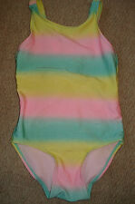 H & M Girls Stripey  Swimsuit Age 2-4 Years
