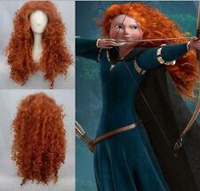 Disney Pixar Animated movie of Brave women lady girl cosplay wig Wigs + wig cap