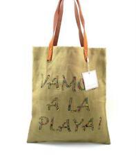 SHIRALEAH Juanita Tote Handbag Shopper Beach Bag Natural Vamos ~ A La Playa!