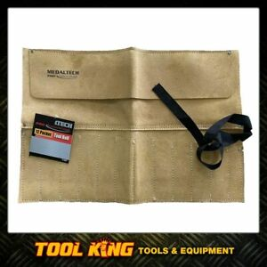 Leather Tool roll 12 Pocket hold chisels, spanners and more High Quality