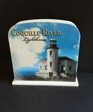 COQUILLE RIVER Lighthouse Bandon Oregon Letter Envelope Holder - EUC