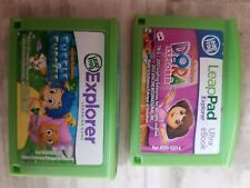 2 LEAP PAD GAMES DORA THE EXPLORER & BUBBLE GUPPIES Leapfrog Leappad 2 3 Ultra