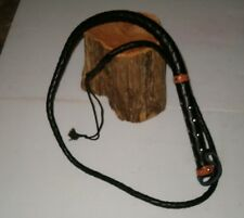 New Hand Made 5' Leather Bull Whip ,Horse Whip, Cattle Whip, Etc. Free Shipping