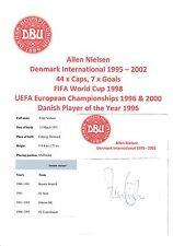 Allen Nielsen Dinamarca años 1995-2002 Original Firmado a Mano Corte Internacional