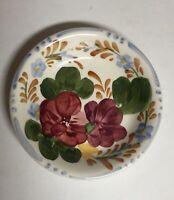 """Floral Handpainted Pin Dish Chanticleer Ware Simpsons Potters 3 1/8"""""""