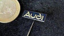 Audi Anstecknadel kein Pin Badge Audi Schriftzug silber blau emailliert alt