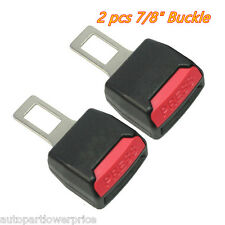 2×Black Universal Clip-in Safety Seat Belt Buckle Extender Extension Car Tucker