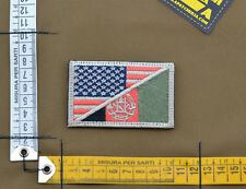 "Ricamata / Embroidered Patch ""USA / Afghanistan"" Subdued with VELCRO® brand hook"