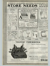 """1923 PAPER AD Oliver Model #9 Pica Type Typewriter 10"""" Carriage Chicago Ill"""
