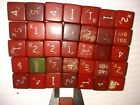 Bakelite - 37 Solid Red Golf Dice - Misprints, Imperfects - 12mm/.47in. - 96g