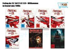 Freitag der 13. Teil 2 5 6 7 8 9 + Willkommen in Crystal Lake 7 DVDs