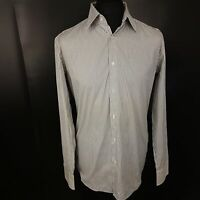 HUGO BOSS Mens Shirt 42 / 16.5 (XL) Long Sleeve  Regular Fit Striped Cotton