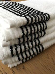 "Tour Caddy Golf Towel 44"" X 22"" White with Black Stripes Tour Towel Wincraft PGA"