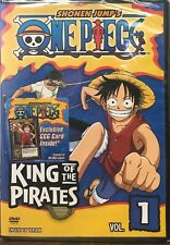 One Piece - Vol. 1: King of Pirates (DVD, 2006, Edited Dubbed) NEW SEALED