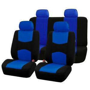 Universal Black/Blue Full Set Auto Seat Covers Fit For Standard 5-Seats Car SUV
