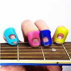 4Pc Guitar Ukulele Fingertip Finger Picks Protector Thumb Bass Silicon