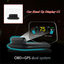 Car Head Up Display C1 Speed/RPM/Voltage Warning Hud Obd2 Gps system Projector